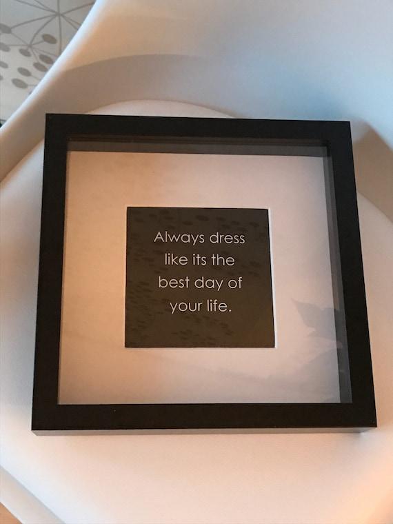 Kunstdruck Digitaldruck Zitat Spruch Quotes Bild Wanddeko Bild Im Rahmen Schwarz Weiß