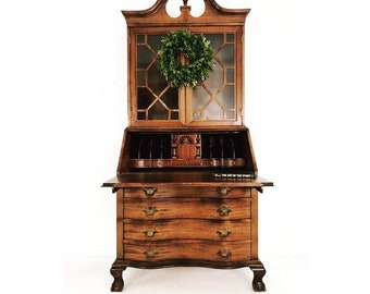 Admirable Antique Secretary Desk Etsy Home Interior And Landscaping Mentranervesignezvosmurscom