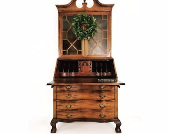 Fantastic Antique Secretary Desk Etsy Download Free Architecture Designs Scobabritishbridgeorg