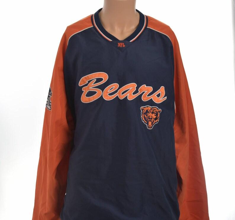 huge discount 34384 d683e Vtg Chicago Bears NFL Men's 3XL Orange Blue Vintage L/S Pullover Sweater  Jacket