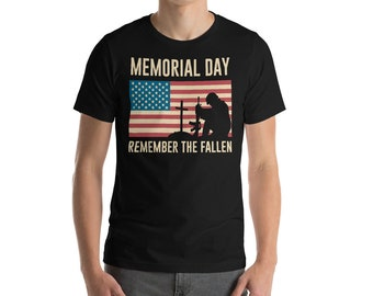 Memorial Day Remember The Fallen, America Shirt, Veteran T-Shirt, Gift For Him, Honor The Soldiers, US Military Tee, Army Shirt, American Fl