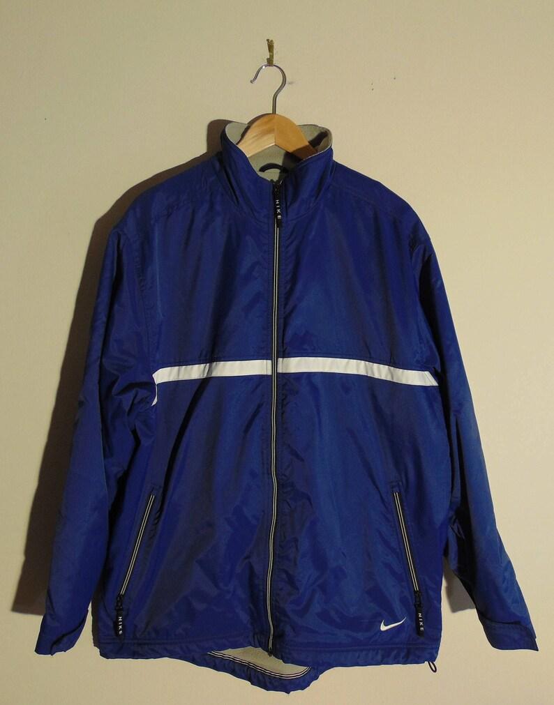 53c23fea9139 Vintage Nike Mens L Full Zip Fleece Lined Windbreaker Jacket