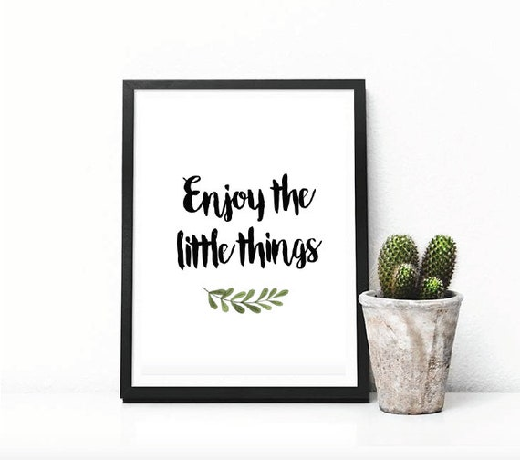 Little things Quotes || Enjoy the little things || Motivational Quote ||  Inspirational Words || Home decor || New Home Gift || Bedroom Art