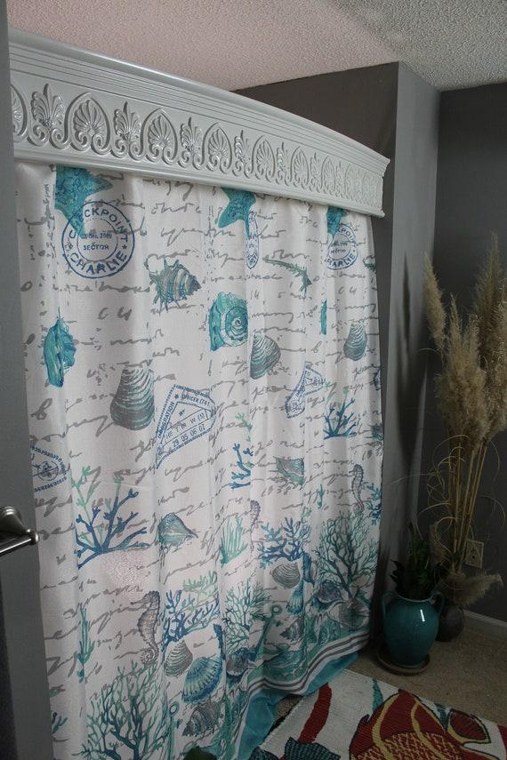 Shower Door Alternative White Unique Bathroom Wall Decor Etsy