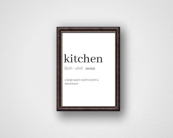 Funny Quote Kitchen Wall Art Humorous Wall decor Inspirational Black And  White Art Family Print Art Digital Print Bachelor Bachelorette Art