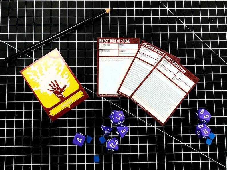 Dungeons & Dragons 5e Sorcerer Spell Deck