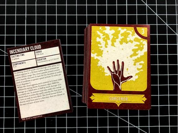 Dungeons Dragons 5e Sorcerer Spell Deck