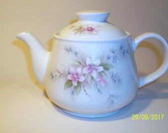 Large Pink Floral Sadler Teapot