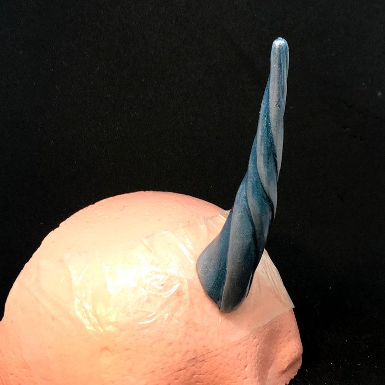 Blue and Silver Art Deco Unicorn Horn Ultra-Lightweight LATEX-FREE