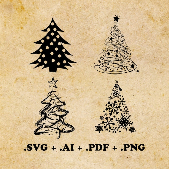 Get Christmas Tree, Vector Cut Files DXF