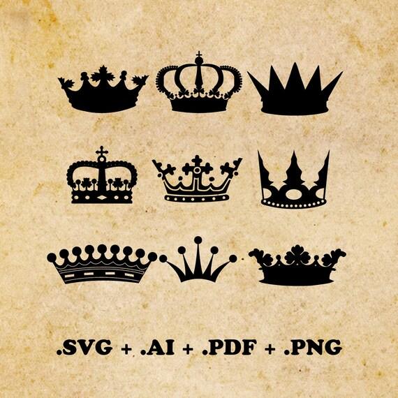 Couronne De Svg Ai Pdf Png Svg Princesse Couronne Svg Etsy