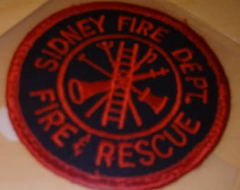 Used SIDNEY FIRE DEPT Fire & Rescue Patch