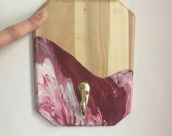 Decorative hook for key, saccoche, jacket, scarf, wall hook, bathroom, rucksing, rack, cloakroom, patère,