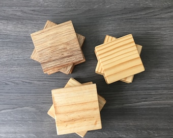 Recycled wood coasters, sub-glass, recycled wood, wood, glass, coaster, coasters
