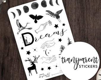 """TRANSPARENT Stickers """"GET LOST""""  