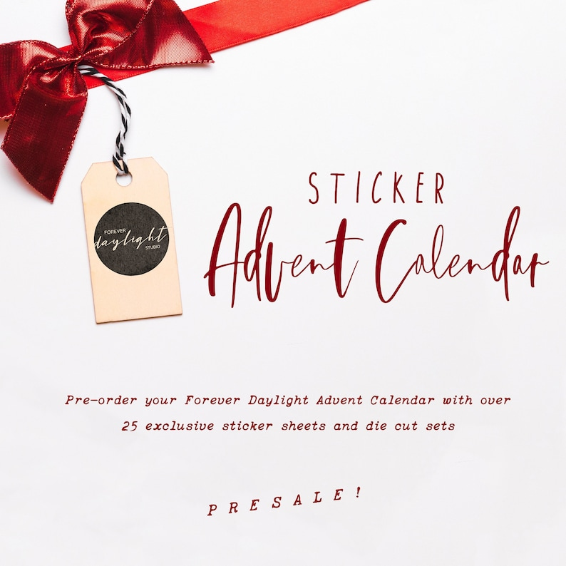 Planner Sticker Advent Calendar Pre Order Christmas Surprise For Planner Girls Pre Order Now Get A Happy Mail In December Limited