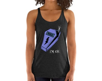 e42e4a9d49501 Womens I m Ok Shirts Funny Comical Gifts Activewear Racerback Tank Tops