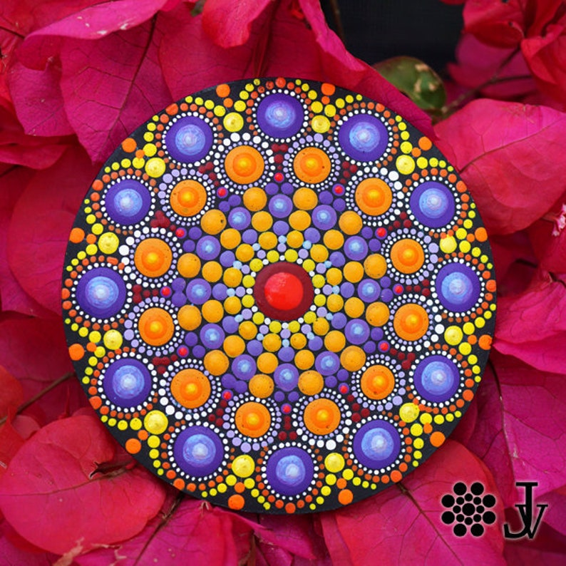 Mandala Dot Art Fridge Magnet Home Boho Decor Mandala Wall Etsy