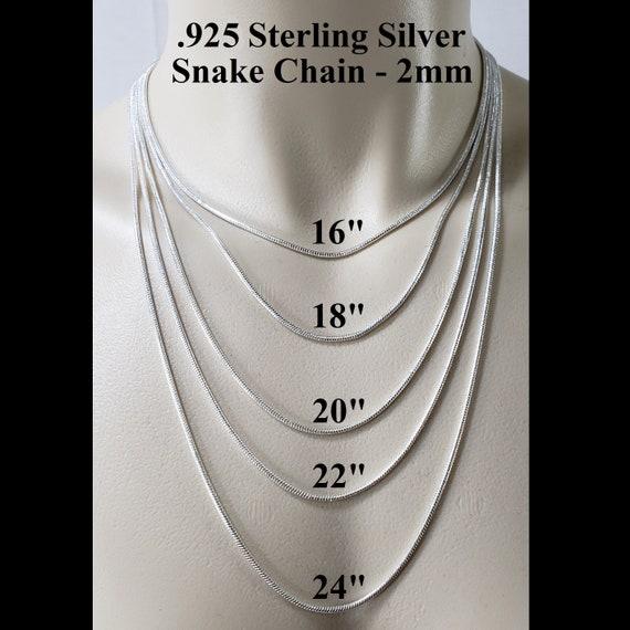 Sterling Silver Snake Chain Genuine Solid Hallmarked 925