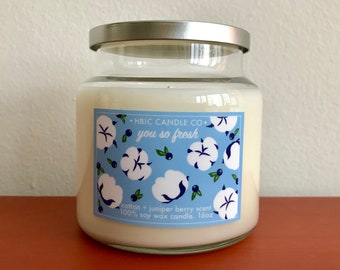 Cotton and Juniper Berry Scented Candle, 16oz