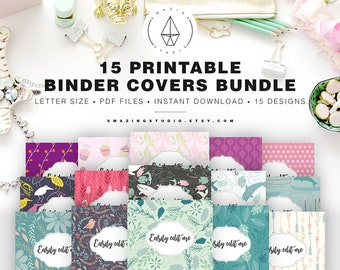 binder cover printable etsy
