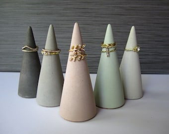 ring cones  jewelry organizer  boho decor  ring tree  mothers day gift