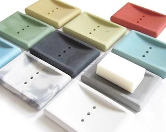 Concrete Soap Dish, Draining Soap Holder, Cement, Modern Soap Dish, Bathroom Accessories, Soap Tray, Minimalist