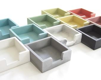 Sticky Note Holder - Post It Holder - Desk Accessories - Postit Organizer -Home Office - Modern Desk - Minimalist - Concrete - Cement