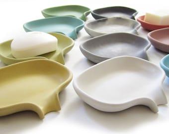 Soap Dish, Draining Soap Holder, Sponge Holder, Concrete Soap Dish, Minimalist, Soap Tray, Bathroom Accessories, Modern, Soap Bar