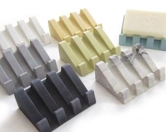 Soap Dish, Draining Soap Dish, Soap Holder, Sponge Holder, Cement, Modern, Minimalist , Bathroom Accessories, Bar dish soap drain, Kitchen
