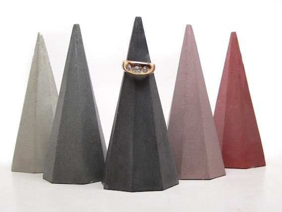 Brutalist Ring cone Geometric ring cone wedding favor Wedding ring cone ring tree Ring cone ring holder