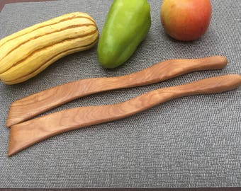 Maple Wood Kitchen Utensil Pair