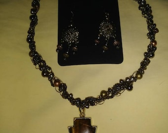 Beautiful Tigerseye Necklaces with Earrings
