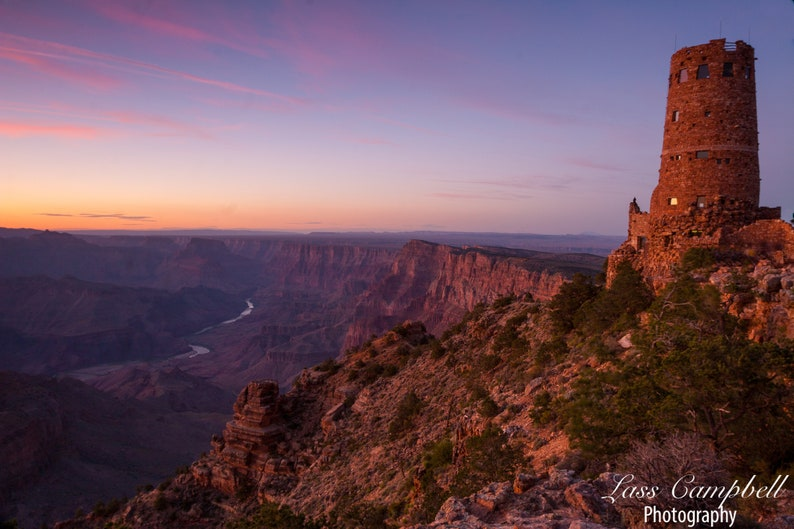 Sunset Desert View Watchtower Grand Canyon Grand Canyon Etsy