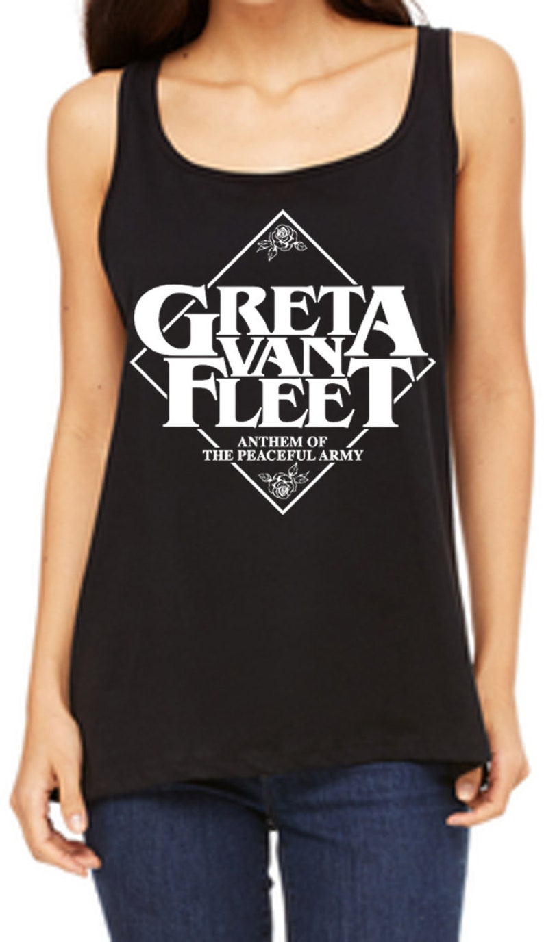 d9797f781a36 Greta Van Fleet American Rock Logo Tank Modern Rock