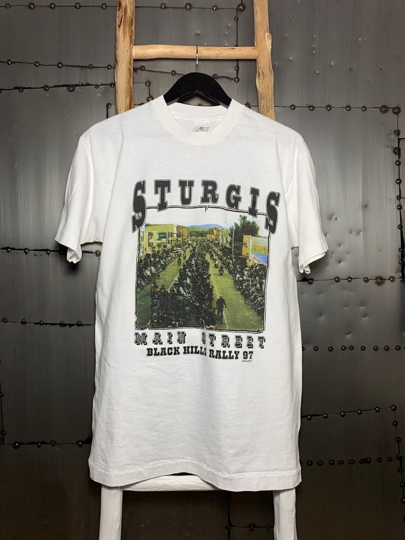 Vintage 1992 Sturgis Broken Spoke Saloon South Dakota T-Shirt image 0