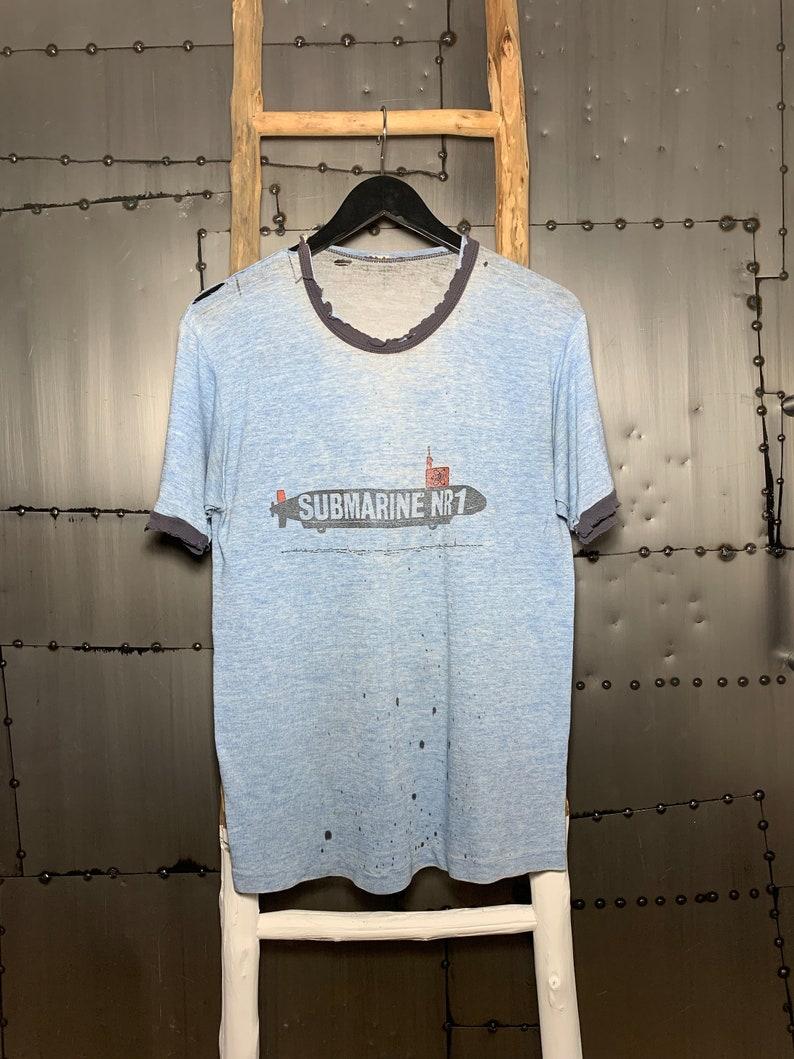 Vintage 1980s Submarine NR1 Ringer T-Shirt image 0