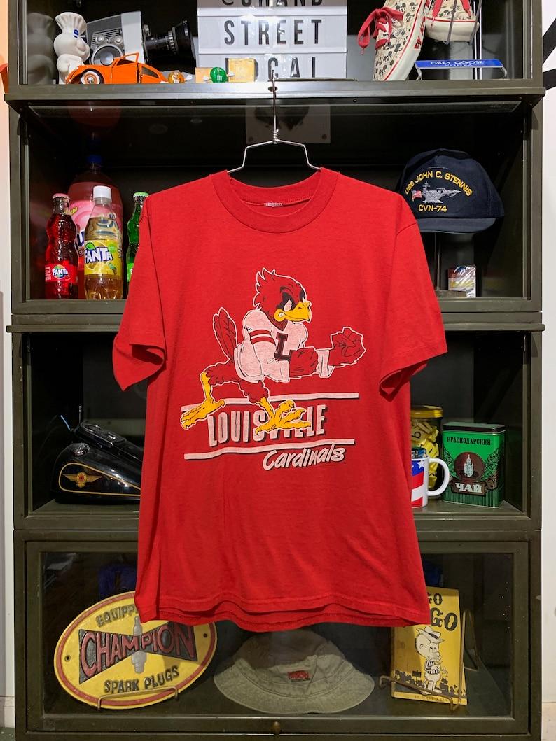 Vintage 1990 Louisville Cardinals T-Shirt image 0