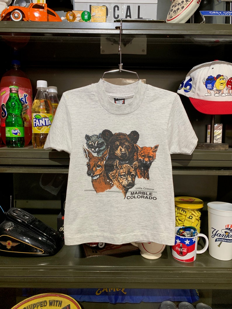 Youth Vintage 1990s Little Critters Marble Colorado T-Shirt image 0