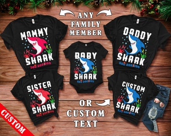 Shark Family Matching Shirts Set - Custom Family Matching Tees - Shark  Party Tees - Family Matching T-Shirts Sets - Shark Doo Doo Doo Tees fbda986f8979f