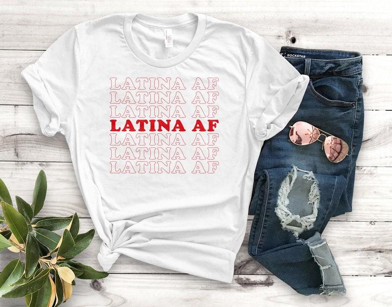 cbd913fb Latina AF Unisex T-Shirt Unisex Clothing Latina Shirts | Etsy