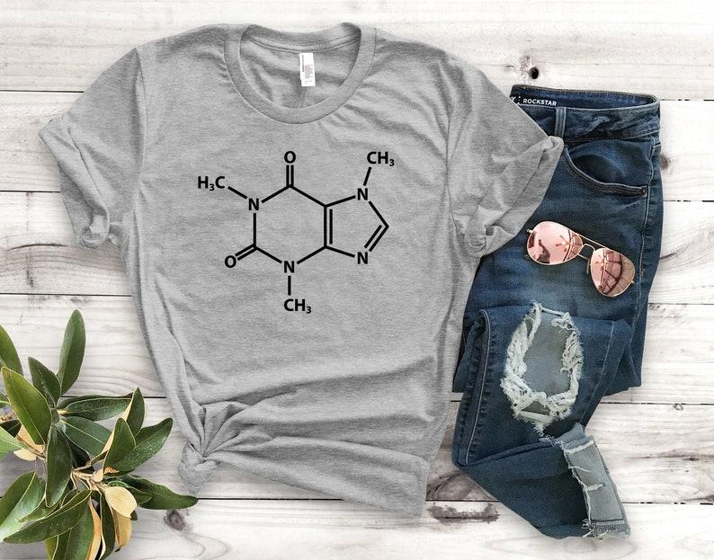 a3865c4a Caffeine Molecule Unisex T-Shirt Funny Graphic Tee Cute | Etsy