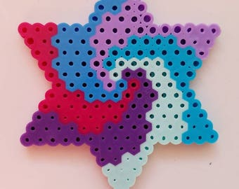 Perler beads, magnet, swirl, perler bead magnet