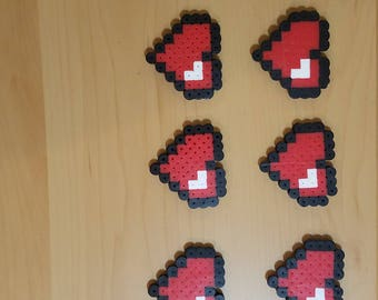 Hearts, perler beads, Valentines Day, magnets