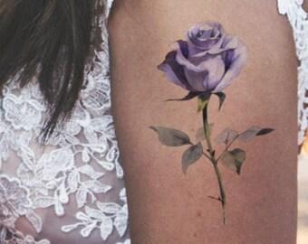 Peony Fake Tattoo Etsy