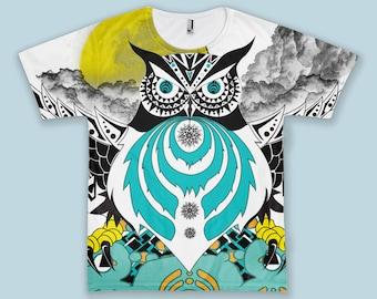 5f47a8dca Bass Head Owl Tshirt/Tee EDM Rave Festival Trippy