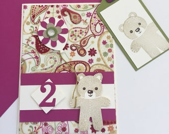 Pink Paisley Bear - classic Liberty fabric