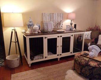 Dog crate furniture | Etsy