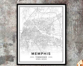 Memphis map | Etsy