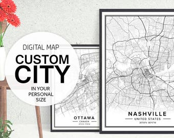 City maps etsy custom city map custom map art custom map print city map print city map art map download maps of cities city posters pdf prints gumiabroncs Images